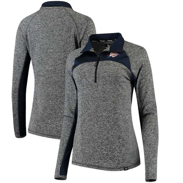 ファナティクス レディース ジャケット&ブルゾン アウター Oklahoma City Thunder Fanatics Branded Women's Static Quarter-Zip Pullover Jacket Heathered Gray