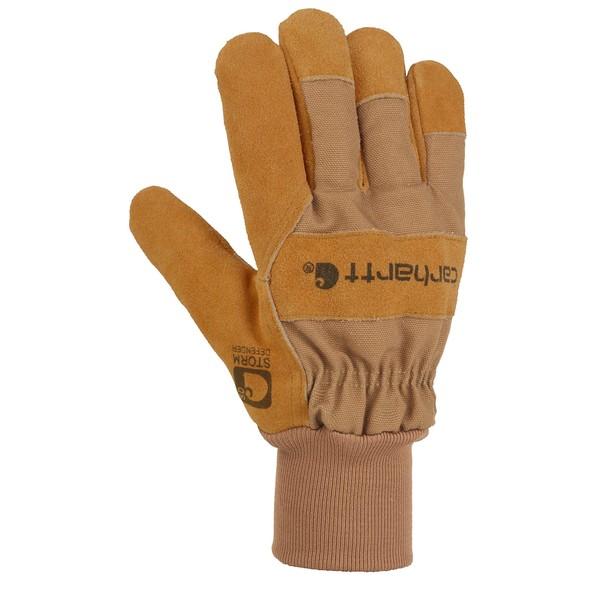 カーハート メンズ アクセサリー 手袋 Brown 全商品無料サイズ交換 数量は多 Wb Glove Leather Work Suede Breathable (訳ありセール 格安) Waterproof