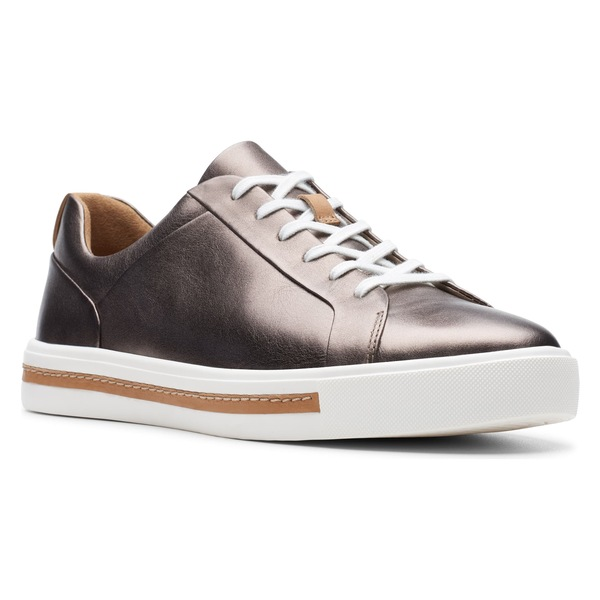 クラークス レディース スニーカー シューズ Clarks Un Maui Lace Sneaker (Women) Pebble Metallic Leather