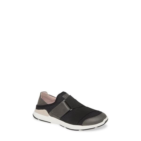 オルカイ レディース スニーカー シューズ Mikilua Kakoo Slip-On Sneaker Black Fabric