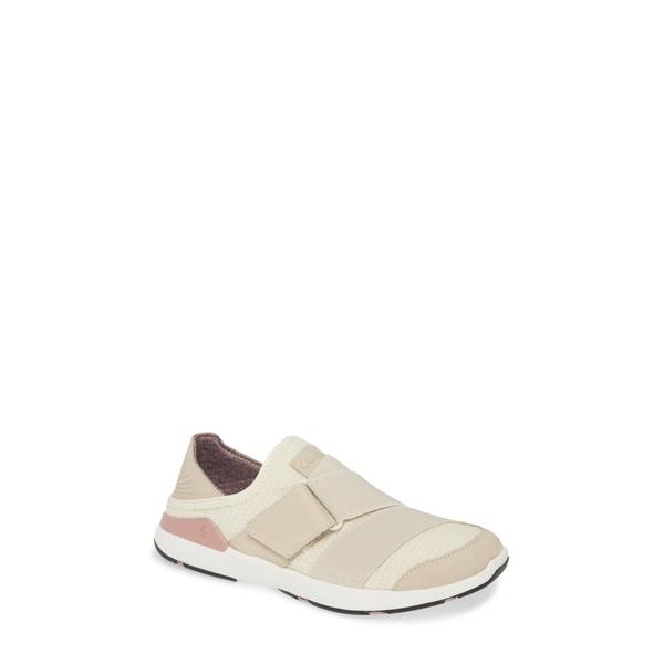 オルカイ レディース スニーカー シューズ Mikilua Kakoo Slip-On Sneaker Bone Fabric