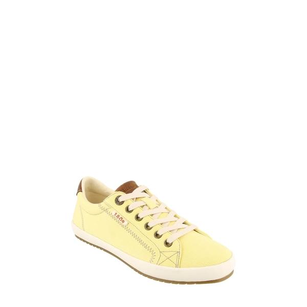 タウス レディース スニーカー シューズ Starburst Sneaker Yellow/ Tan Canvas