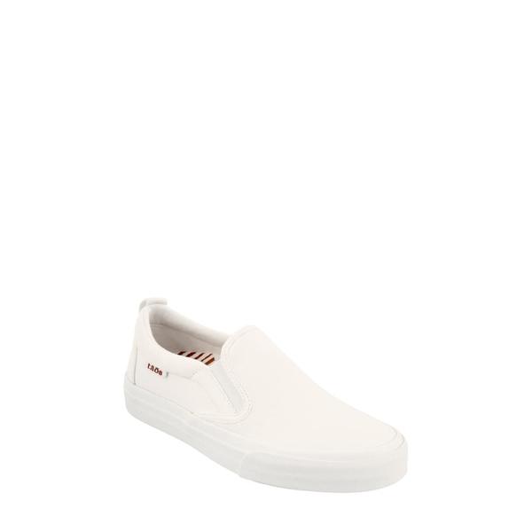 タウス レディース スニーカー シューズ Rubber Soul Slip-On Sneaker White Canvas