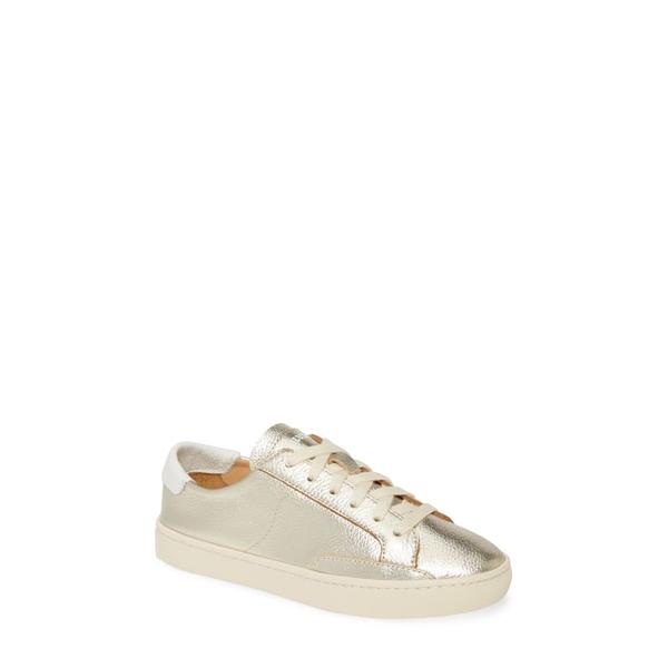 ソルドス レディース スニーカー シューズ Ibiza Metallic Lace-Up Sneaker Platinum
