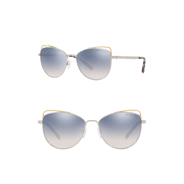 マイケルコース 70%OFFアウトレット レディース アクセサリー サングラス アイウェア SILVER Cat 割引 55mm Sunglasses 全商品無料サイズ交換 Lucia Eye