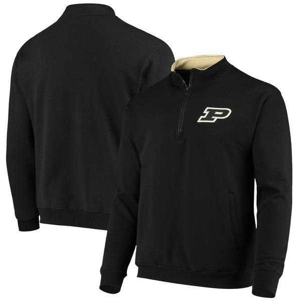 コロシアム メンズ ジャケット&ブルゾン アウター Purdue Boilermakers Colosseum Tortugas Logo QuarterZip Pullover Jacket Charcoal