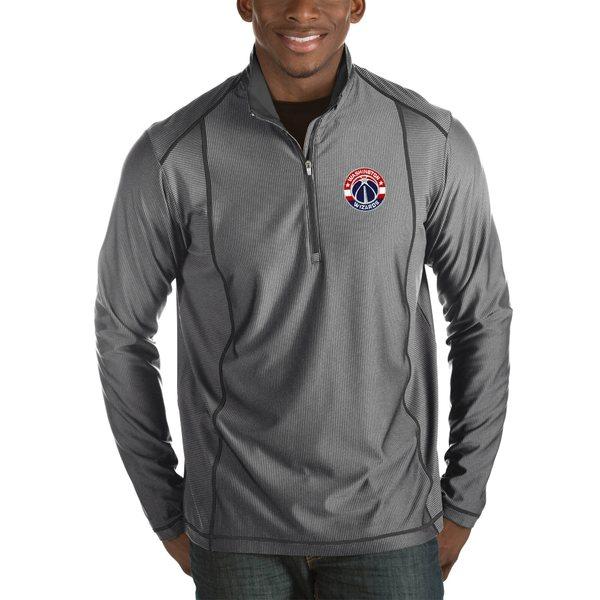 アンティグア メンズ ジャケット&ブルゾン アウター Washington Wizards Antigua Tempo Big & Tall HalfZip Pullover Jacket Charcoal