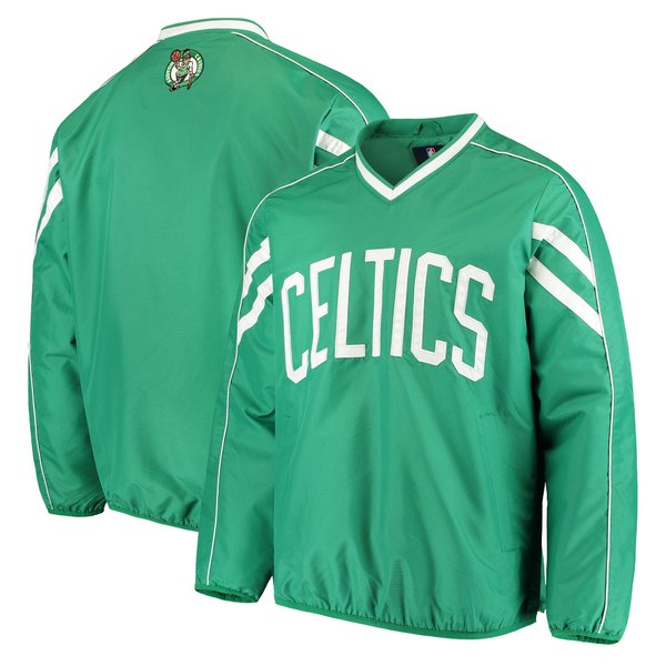 カールバンクス メンズ ジャケット&ブルゾン アウター Boston Celtics GIII Sports by Carl Banks Red Zone Wordmark VNeck Pullover Jacket Kelly Green