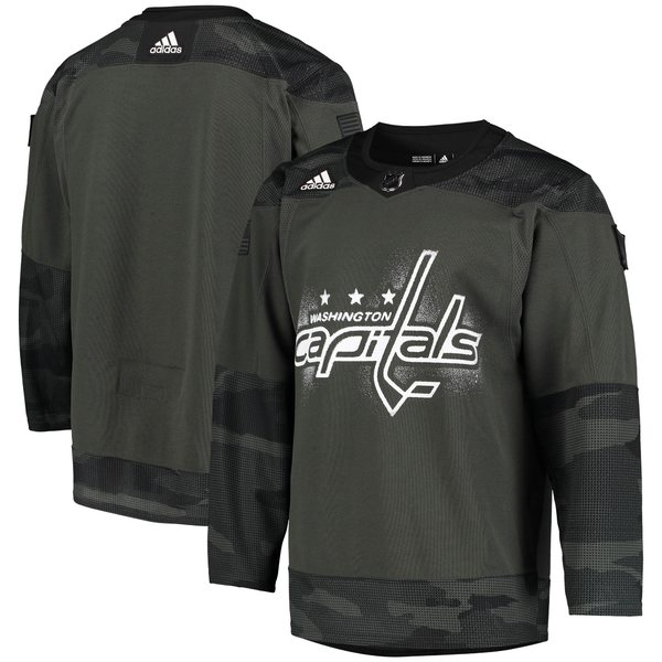 アディダス メンズ ユニフォーム トップス Washington Capitals adidas Veterans Day Authentic Practice Jersey Camo