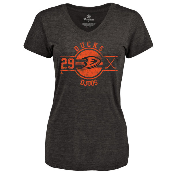 ファナティクス レディース Tシャツ トップス Anaheim Ducks Fanatics Branded Women's Personalized Insignia TriBlend TShirt Black
