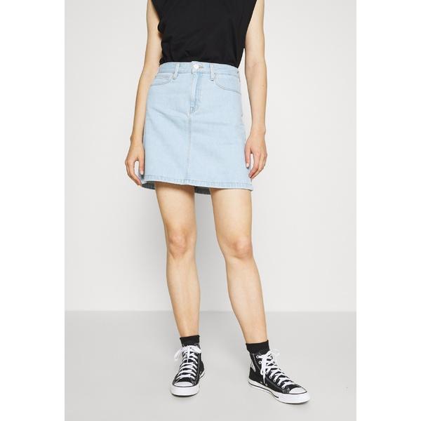 リー レディース 最新 ボトムス スカート bleached 大人気 denim 全商品無料サイズ交換 A ZIP - Denim skirt eipn0155 SKIRT LINE