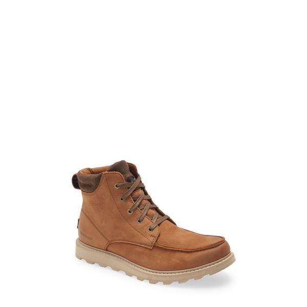 ソレル メンズ シューズ ブーツ レインブーツ VELVET ブランド激安セール会場 TAN Madson Waterproof II Moc 高価値 Boot Toe 全商品無料サイズ交換