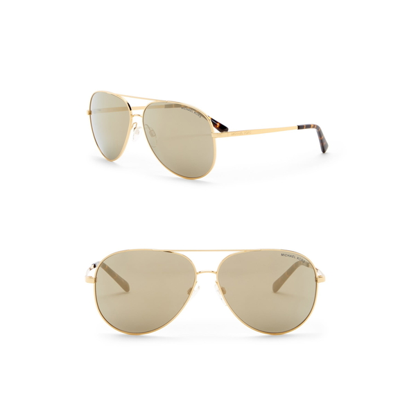 マイケルコース レディース アクセサリー 今ダケ送料無料 サングラス アイウェア GOLD オンラインショッピング Aviator 全商品無料サイズ交換 BROWN 60mm Sunglasses