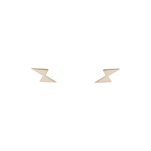 ボニー レヴィ レディース アクセサリー ピアス 完売 イヤリング 14KY 全商品無料サイズ交換 Petite Yellow 日本メーカー新品 Earrings Lightning 14K Stud Bolt Gold