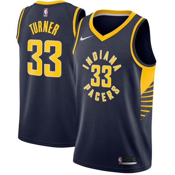 ナイキ メンズ ユニフォーム トップス Myles Turner Indiana Pacers Nike Swingman Jersey Navy Icon Edition
