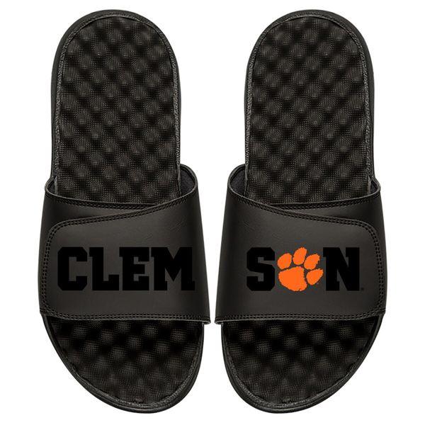 アイスライド メンズ サンダル シューズ Clemson Tigers ISlide Tonal Pop Slide Sandals Black
