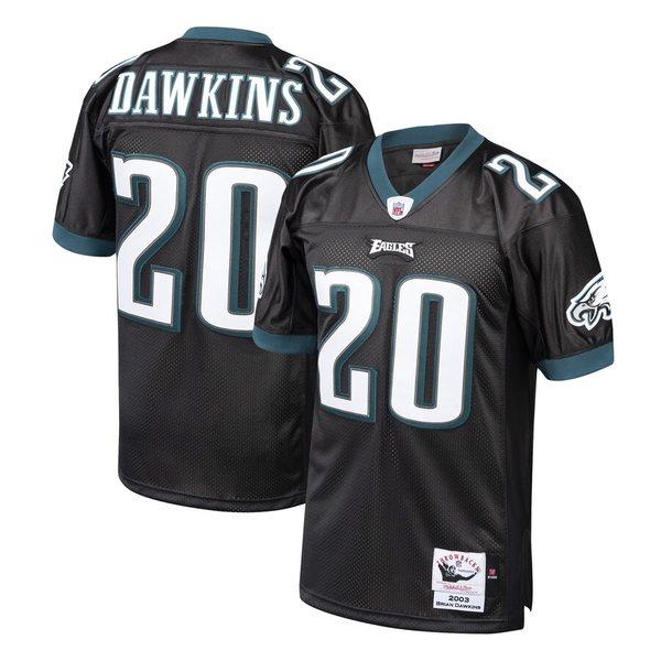 ミッチェル&ネス メンズ シャツ トップス Brian Dawkins Philadelphia Eagles Mitchell & Ness 2003 Authentic Throwback Retired Player Jersey Black