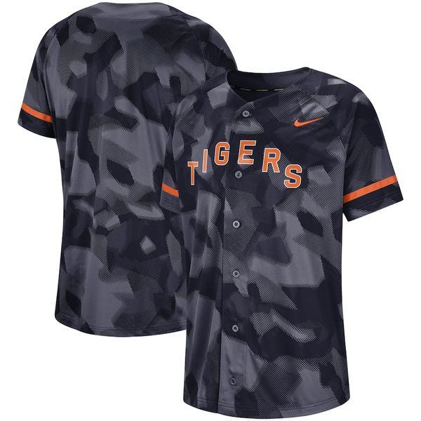 ナイキ メンズ シャツ トップス Detroit Tigers Nike Camo Jersey Navy