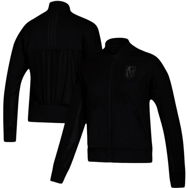 アディダス レディース ジャケット&ブルゾン アウター Vegas Golden Knights adidas Women's Stadium ID Mesh Bomber Jacket Black