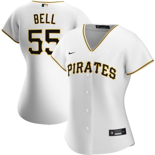 ナイキ レディース シャツ トップス Josh Bell Pittsburgh Pirates Nike Women's Home 2020 Replica Player Jersey White