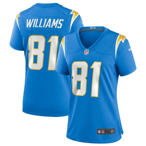 ナイキ レディース シャツ トップス Mike Williams Los Angeles Chargers Nike Women's Game Jersey Powder Blue