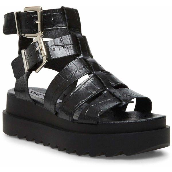 スティーブ マデン レディース ヒール シューズ Zeeta Gladiator Sandal Black Croco