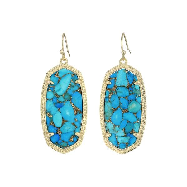 ケンドラスコット レディース ピアス&イヤリング アクセサリー Elle Earring Gold/Bronze Veined Turquoise Magnesite