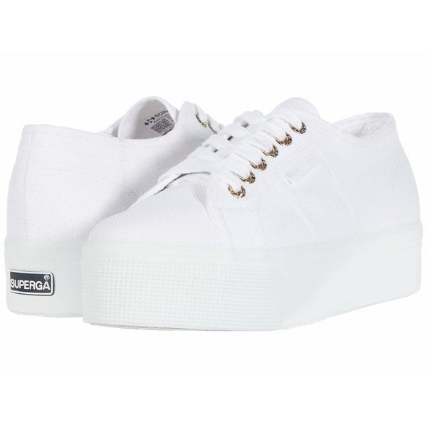 スペルガ レディース スニーカー シューズ 2790 Acotw Platform Sneaker White/Gold