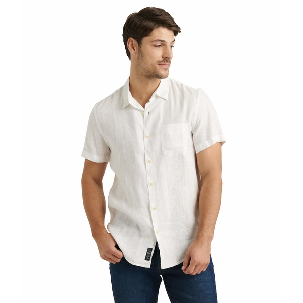 ラッキーブランド メンズ シャツ トップス Short Sleeve San Gabriel Shirt White