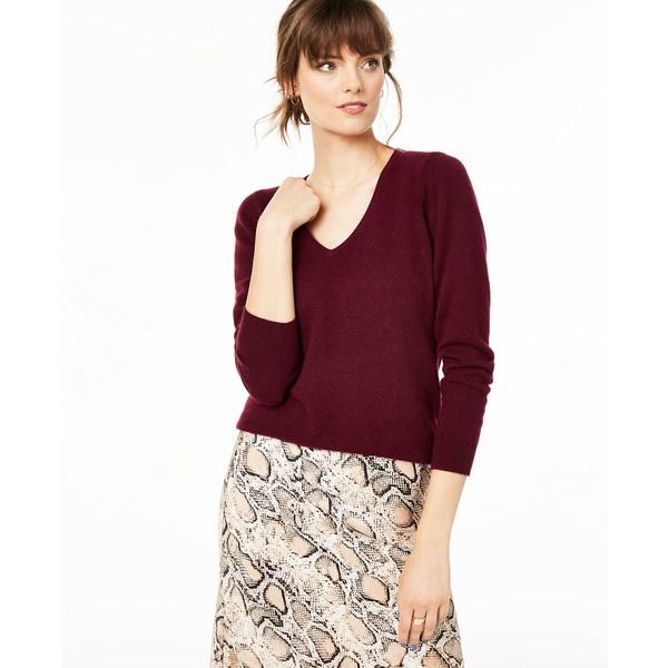 Crantini Regular & Cashmere Sweater, ニット&セーター V-Neck Petite チャータークラブ Sizes アウター レディース