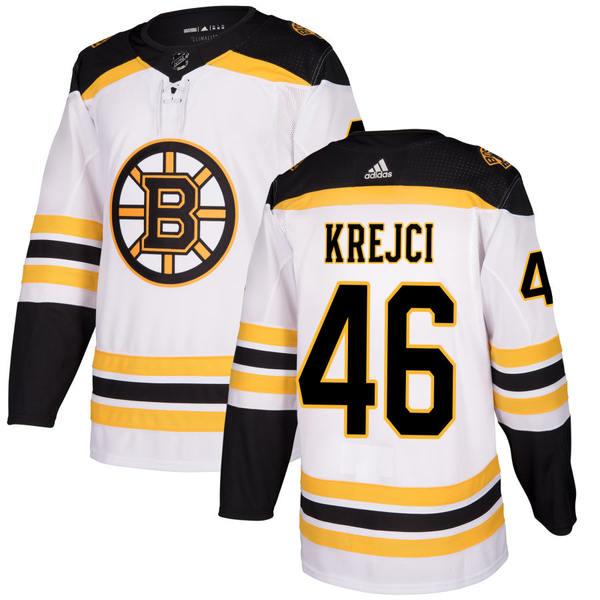 アディダス メンズ ユニフォーム トップス Boston Bruins adidas Authentic Custom Jersey White