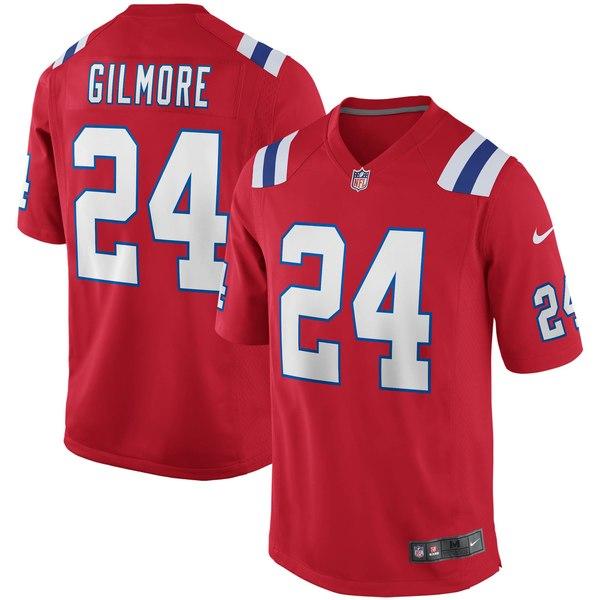 ナイキ メンズ ユニフォーム トップス Stephon Gilmore New England Patriots Nike Alternate Game Jersey Red