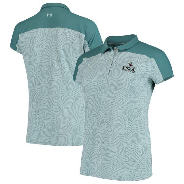 アンダーアーマー レディース ポロシャツ トップス 2019 PGA Championship Under Armour Women's Tips Polo Teal