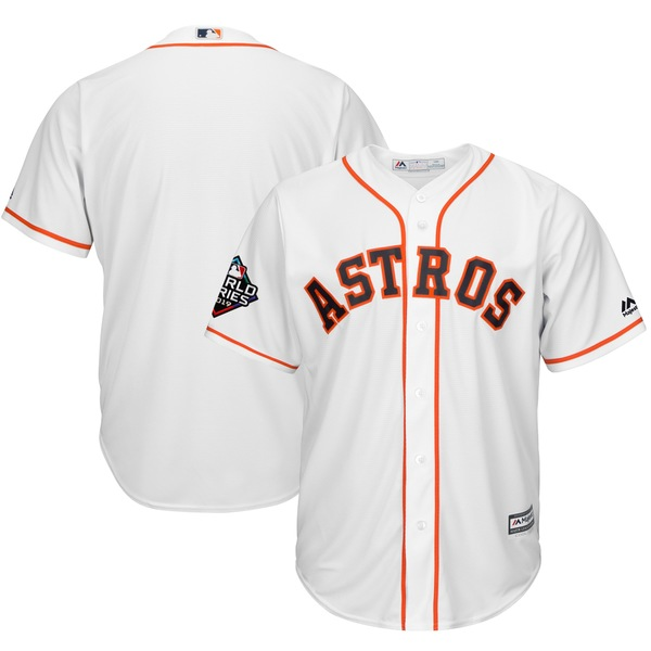 マジェスティック メンズ ユニフォーム トップス Houston Astros Majestic 2019 World Series Bound Official Cool Base Team Jersey White