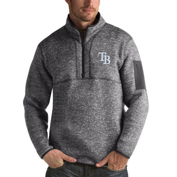 アンティグア メンズ シャツ トップス Tampa Bay Rays Antigua Fortune HalfZip Sweater Heathered Charcoal