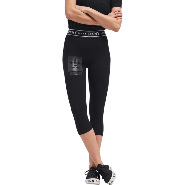 ダナキャラン レディース カジュアルパンツ ボトムス Houston Astros DKNY Sport Women's The Karan Capri Leggings Navy