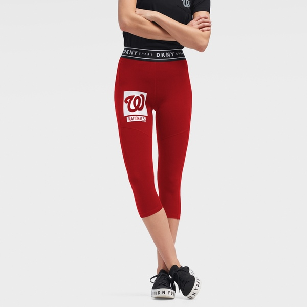 ダナキャラン レディース カジュアルパンツ ボトムス Washington Nationals DKNY Sport Women's The Karan Capri Leggings Red