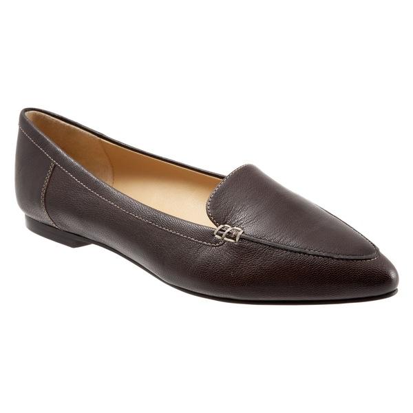 トロッターズ レディース サンダル シューズ Trotters Ember Flat (Women) Dark Brown Leather