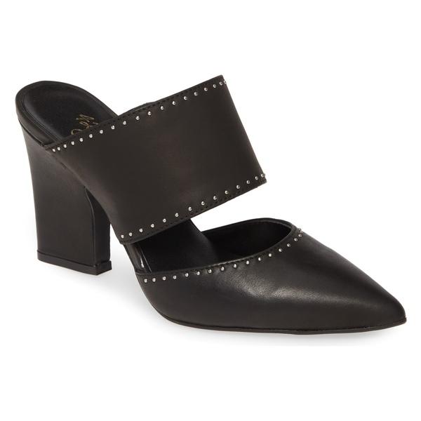 42ゴールド レディース サンダル シューズ 42 GOLD Figaro Studded Pointed Toe Mule (Women) Black Leather