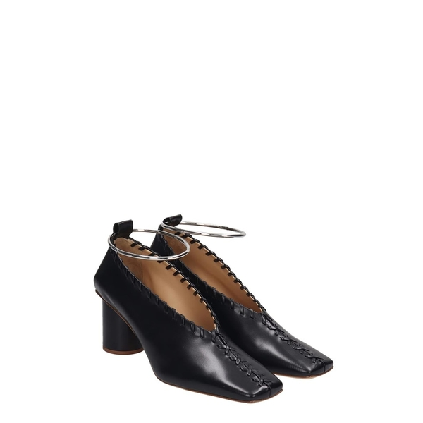 Cape Robbin Play Black Lace Up Perspex Clear Toe Heeled Pointed Pump