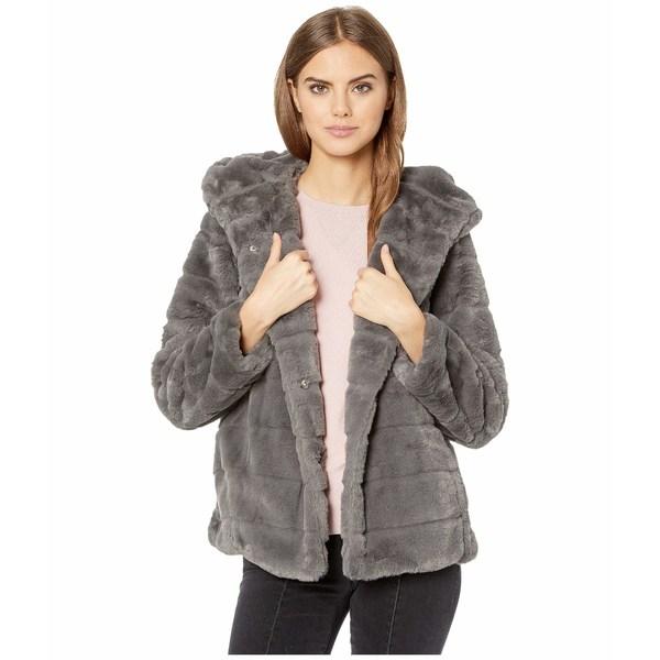 アッパリス レディース コート アウター Goldie 3 Hooded Faux Fur Coat Carbon