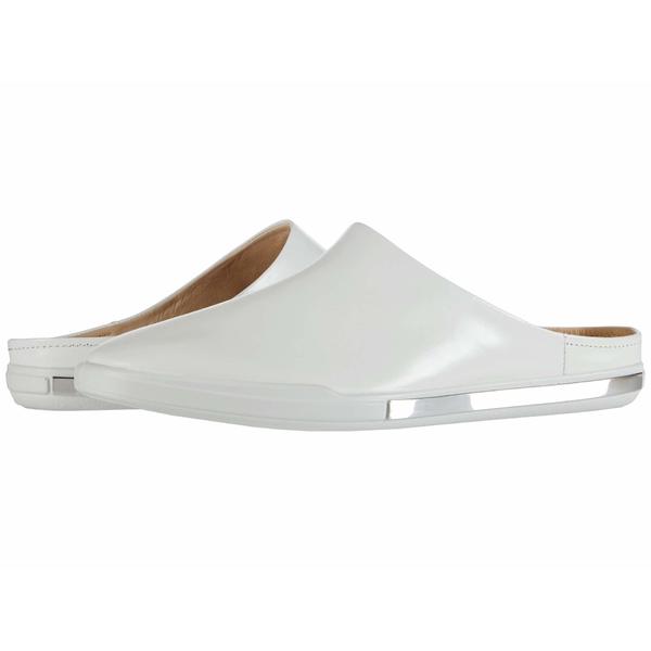 エコー レディース スリッポン・ローファー シューズ Simpil II Slide White Calf Leather