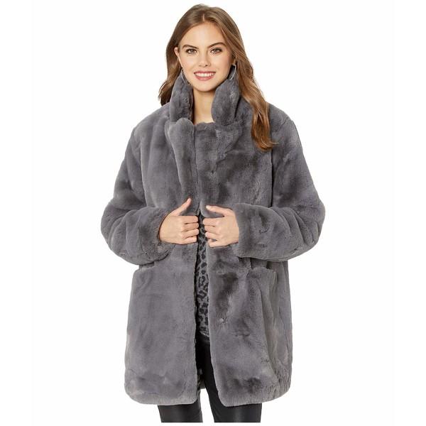 アッパリス レディース コート アウター Sophie 2 Faux Fur Coat Carbon