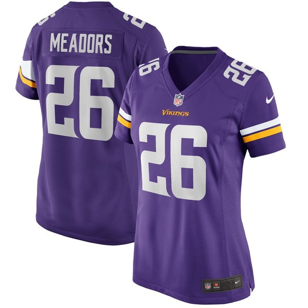 ナイキ レディース シャツ トップス Nate Meadors Minnesota Vikings Nike Women's Player Game Jersey Purple
