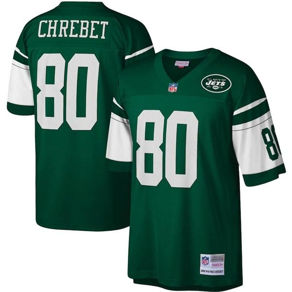ミッチェル&ネス メンズ シャツ トップス Wayne Chrebet New York Jets Mitchell & Ness Legacy Replica Jersey Green