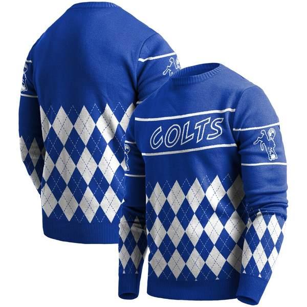 フォコ メンズ シャツ トップス Indianapolis Colts Retro Sweater Royal