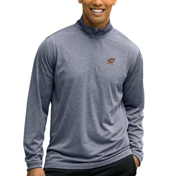 ビンテージアパレル メンズ ジャケット&ブルゾン アウター Cent. Michigan Chippewas Mesh Tech 1/4-Zip Pullover Sweater Charcoal