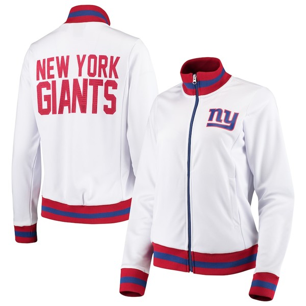 カールバンクス レディース ジャケット&ブルゾン アウター New York Giants G-III 4Her by Carl Banks Women's Field Goal Track Jacket White
