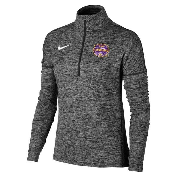 ナイキ レディース ジャケット&ブルゾン アウター LSU Tigers Nike Women's College Football Playoff 2019 National Champions Element Quarter-Zip Pullover Jacket Black