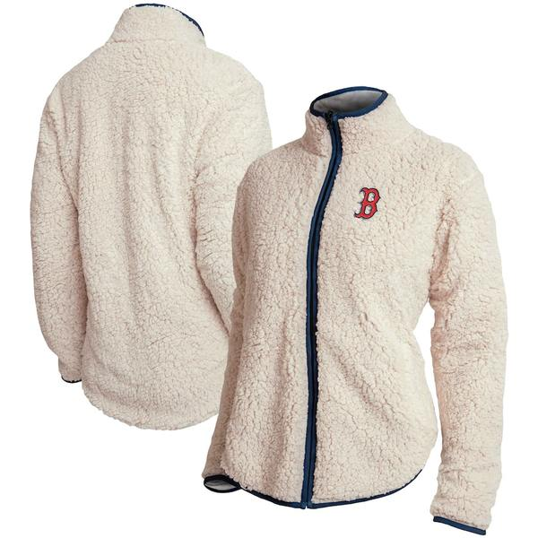 フォコ レディース ジャケット&ブルゾン アウター Boston Red Sox Women's Sherpa Full-Zip Jacket White